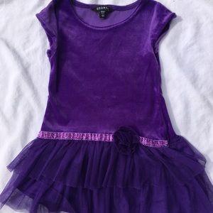 Sweet Little Girls Purple Dress